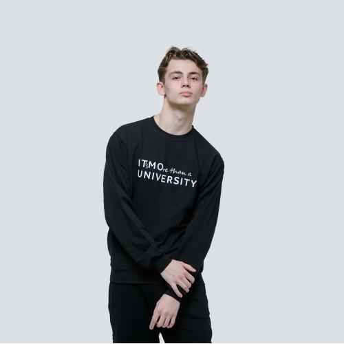 Свитшот мужской BLACK IT's MOre than a university 2.0