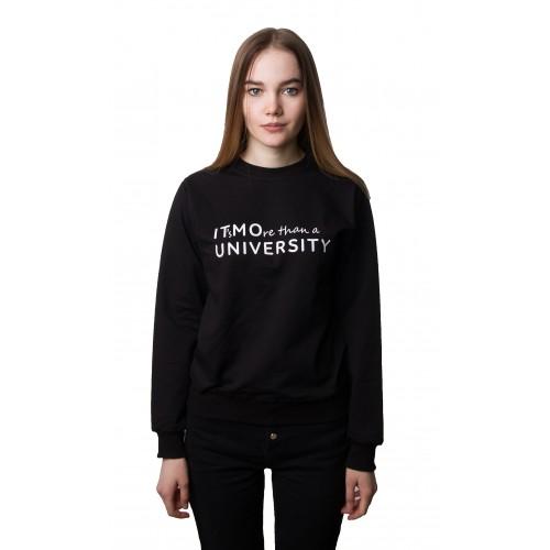 Свитшот женский BLACK IT's MOre than a university 2.0
