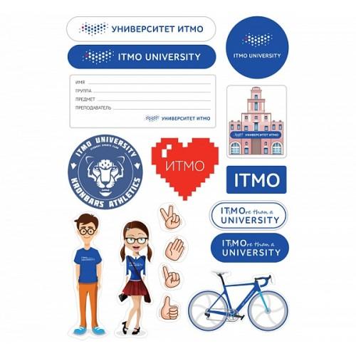 Набор наклеек Университет ИТМО